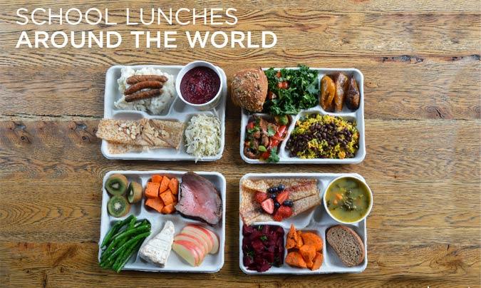 Los menús escolares en el mundo según Sweetgreen. ©Sweetgreen.