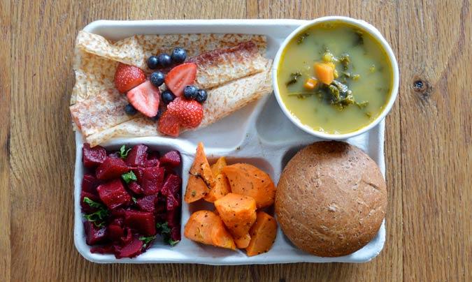 Menú escolar en Finlandia. ©Sweetgreen.
