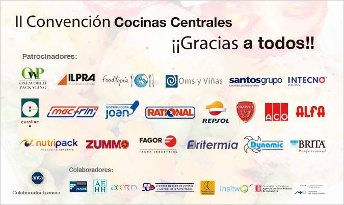 Líderes del equipamiento y servicios <br>con la <i>II Convención de Cocinas Centrales</i>