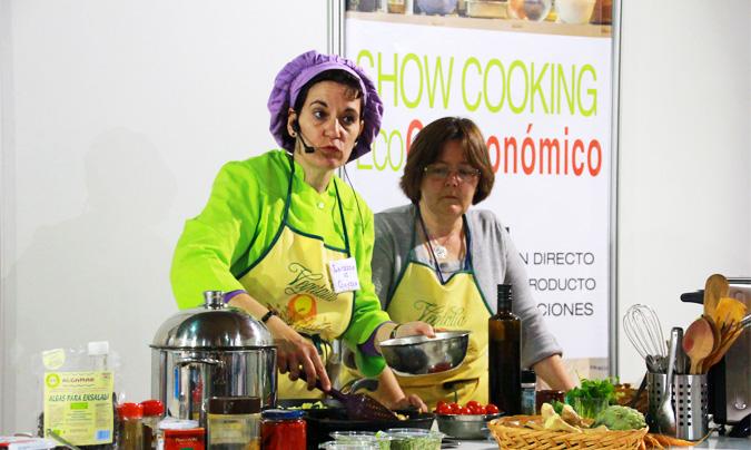 BioCultura Barcelona organizó diversos <i>showcooking</i> en los que conocidos cocineros del sector 'eco' realizaron demostraciones. ©Rest_colectiva