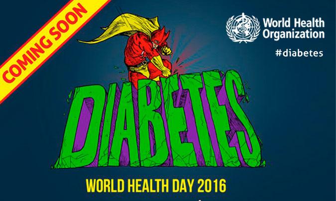 La OMS celebra el Día Mundial de la Salud 2016, este año bajo el lema 'Vence la diabetes'