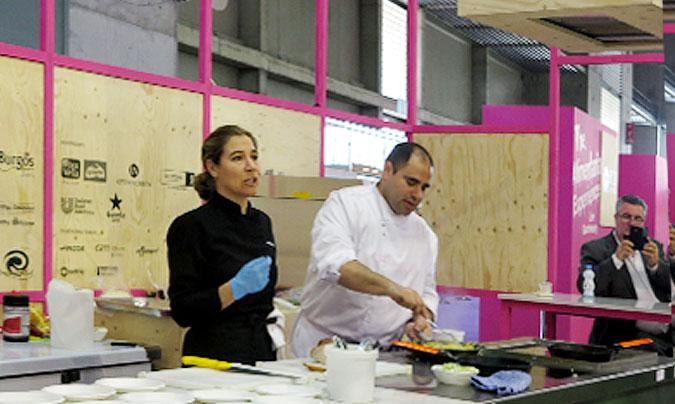 Showcooking_3. Ada Parellada ha dirigido el tercero de los talleres que hemos celebrado en Alimentaria, en este caso dedicado a los menús escolares.