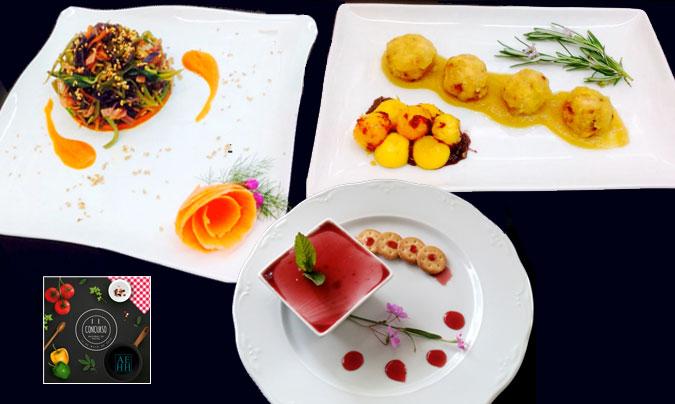 Menú ganador del <i>II Concurso nacional de cocina hospitalaria</i>. ©AEHH.
