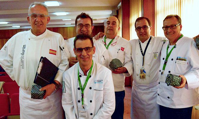 De izda. a dcha.: Eduardo Durán, Sergio Fernández, Fernando García, Javier Hernández, Luis de Cía y Miguel Jiménez, todos ellos miembros del jurado. ©AEHH.