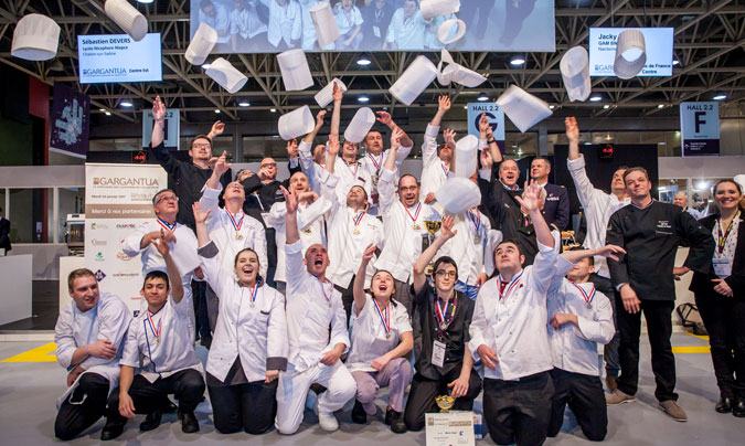 Foto de familia de los participantes en la gran final de 'Le Gargantua'. ©Sirha.