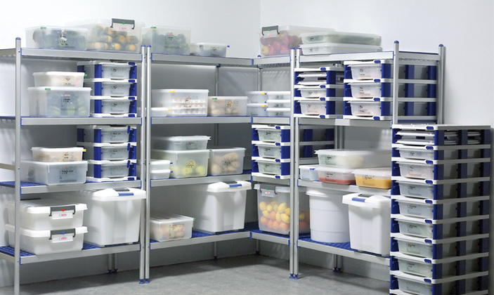No se deben dejar alimentos en contacto directo con el suelo, estarán, al menos, a 10 cm. ©Aravén