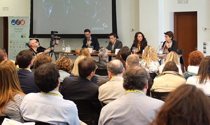 De izquierda a derecha: Javier Ablitas, Mario Agudo, Carmen Martí y Ana Turón, moderadora de la mesa. ©Eduardo_Alapont.