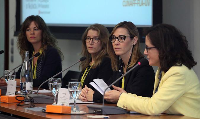 De izquierda a derecha: Lydia Micó, Imma Girba, Laura Bellés y Alma Palau, moderadora de la mesa. ©Eduardo_Alapont.
