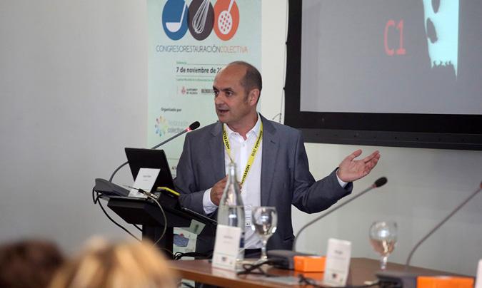 Joaquín Mateo abordó el tema del desperdicio alimentario en los aviones, a través de un proyecto denominado 'Life+Zero Cabin Waste'. ©Eduardo_Alapont.