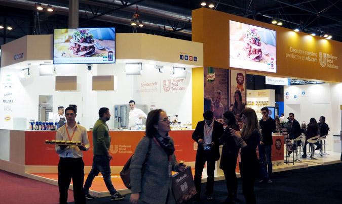 El stand de Unilever Food Solutions contó con continuas demostraciones, llevadas a cabo por sus chefs corporativos.