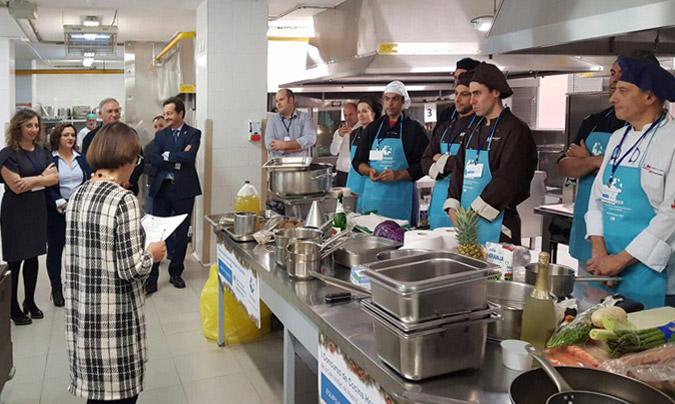 Imagen de la primera edición del 'Concurso de cocina hospitalaria navideña'.