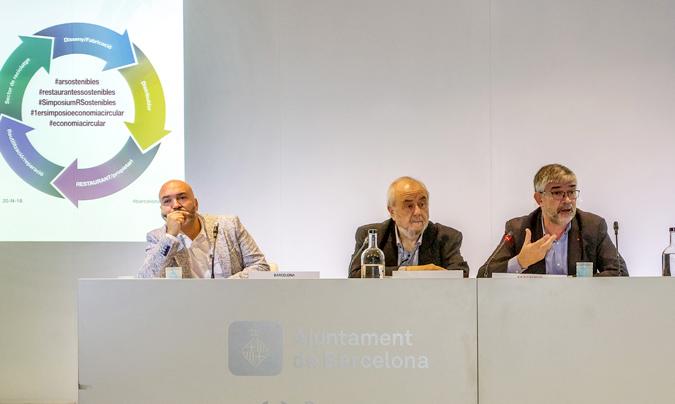 De izquierda a derecha: Sergio Gil, Norberto Navarro e Ignasi Colom.