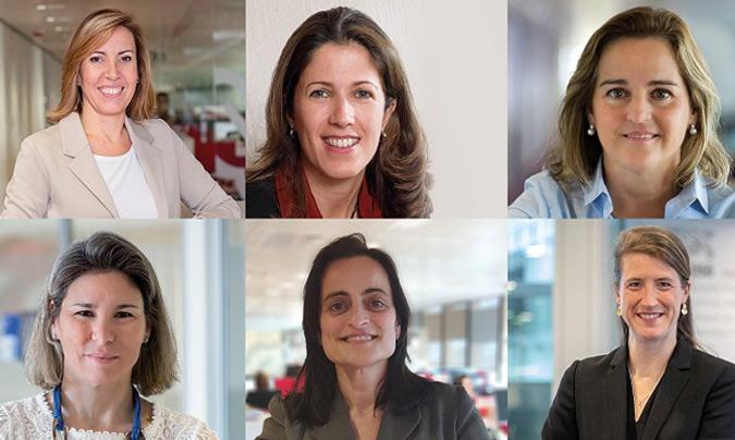 De arriba a abajo y de izquierda a derecha: Neus Martínez, directora de Comunicación, Sílvia Escudé, directora de Cafés, Anna Herrera, directora de Nutrición Infantil, Bárbara Arimont, directora de RRHH, Carla De Sivatte, directora de Chocolates, y Camille Falguiere, directora de Lácteos.