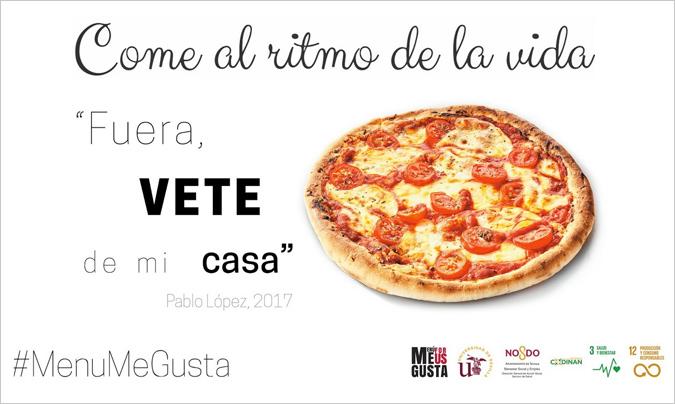 La pizza no se libra de ser incluida en los menús no especialmente sanos.
