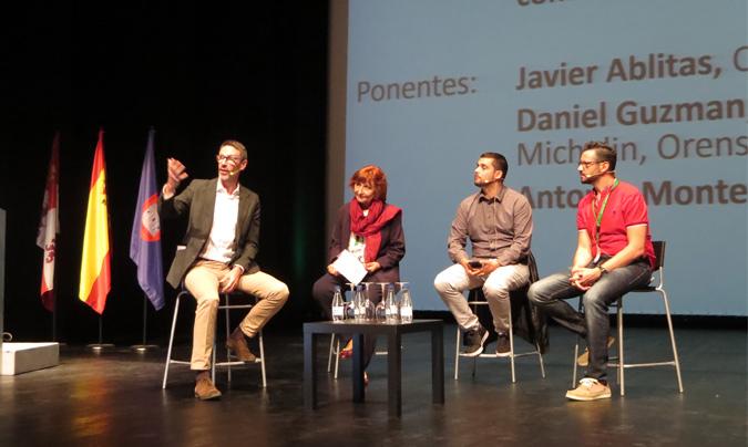 De izquierda a derecha: Javier Ablitas, Fina Irles, Daniel Guzmán y Antonio Montero.