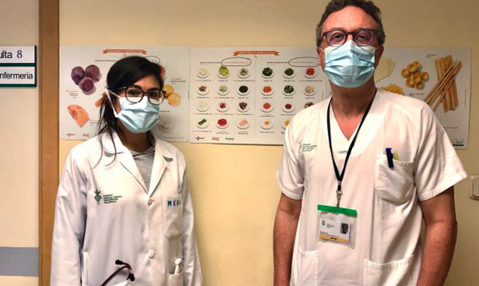 El Hospital General de Valencia diseña una dieta adecuada a pacientes con <i>Covid</i>