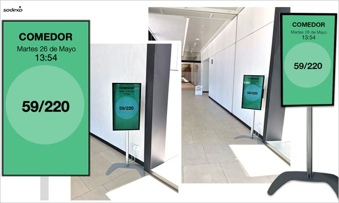 Sodexo incorpora el control de aforos digital en sus centros y restaurantes corporativos