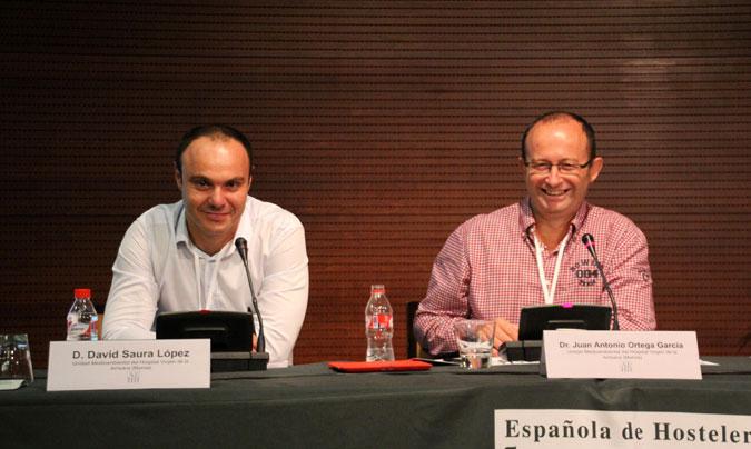 <b>David Saura</b> y <b>Juan Antonio Ortega</b>, ambos miembros de la Unidad Clínica de Salud Medioambiental Pediátrica del Hospital Virgen de la Arrixaca (Murcia).