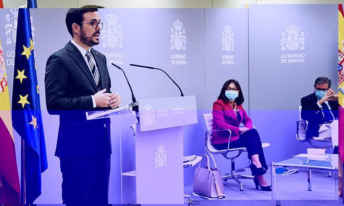 Intervención de Alberto Garzón en la rueda de prensa de presentación de los datos de 'Aladino 2019'.