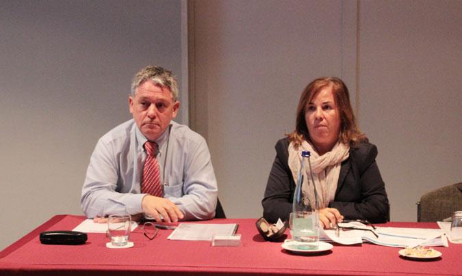 <b>Josep Mestres</b> (director general de Silliker Ibérica) y <b>Victoria Castell</b> (responsable del Comité Científico Asesor de Acsa, Agència Catalana de Seguretat Alimentària). ©Rest_colectiva