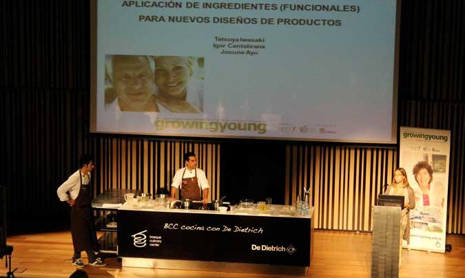 Demostración de platos de alta gastronomía creados para personas mayores. ©Azti-Tecnalia