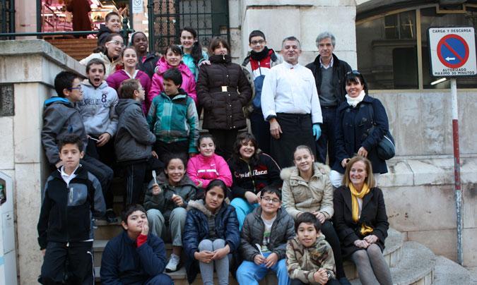 Los grupos que participan en los talleres están formados por 24 alumnos de 6º y 1º de ESO.