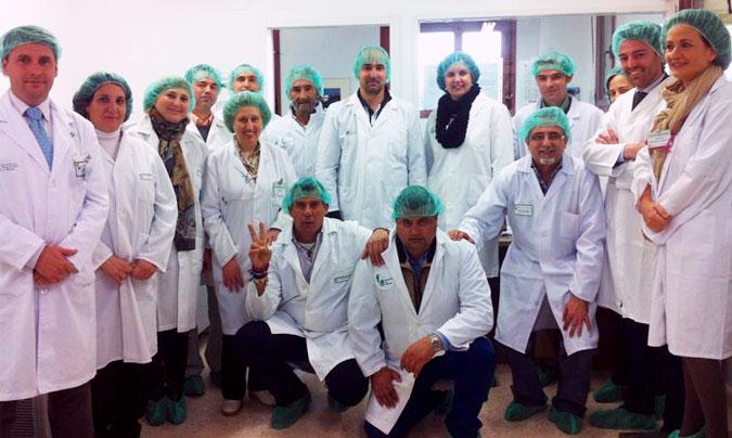Las visitas se organizan en grupos de diez personas, a las que acompañan diversos responsables del servicio. © Hospital de Mérida