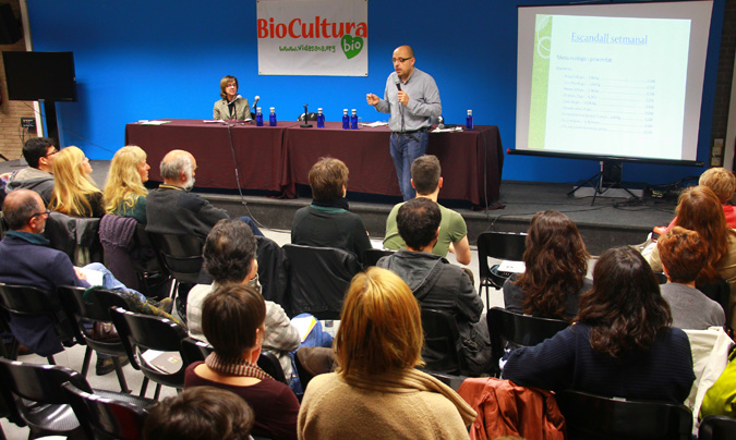 Imagen de las <i>III Jornadas de comedores escolares celebradas en la última edición de BioCultura</i>. ©Rest_colectiva.
