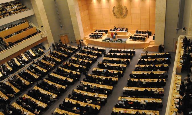 Reunión de la Asamblea Mundial de la Salud en Ginebra (Suiza). ©OMS.