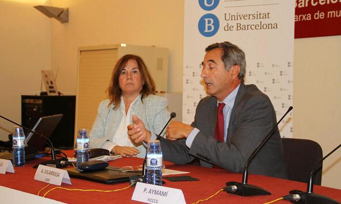 De dcha. a izda., <b>Alfons Vilarrasa</b>, director de la Agència de Salut Pública de Catalunya y <b>Victoria Castell</b>, responsable del Comité Científico Asesor.