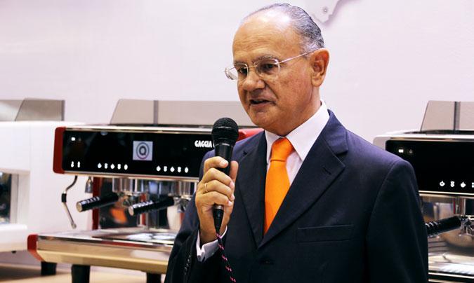 <b>Jordi Roure</b>, director general de Quality Espresso, durante la presentación que se realizó en Hostelco, previa a la visita a la fábrica. ©Rest_colectiva.