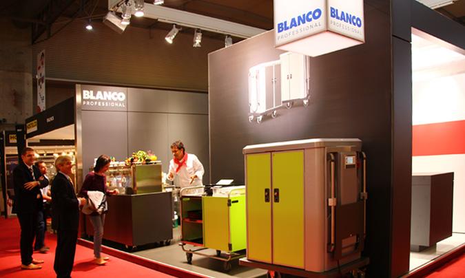 Blanco Professional presentó, entre otros equipos, los 'Blanco Airserve Trolley' de frío y calor para transporte de comida. ©Rest_colectiva.