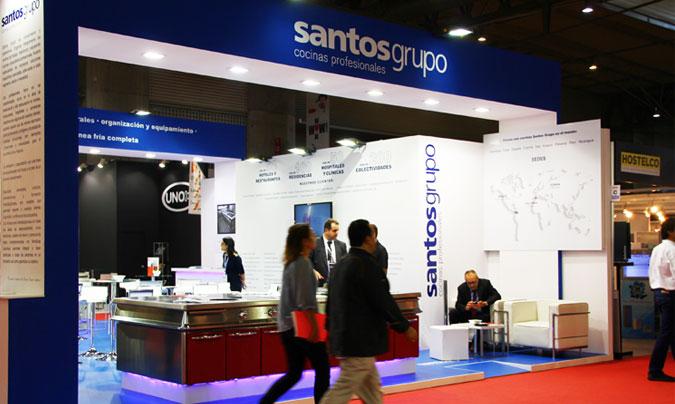 Santos Grupo estuvo también presente en Hostelco con sus cocinas profesionales y sus soluciones en línea fría completa. ©Rest_colectiva.