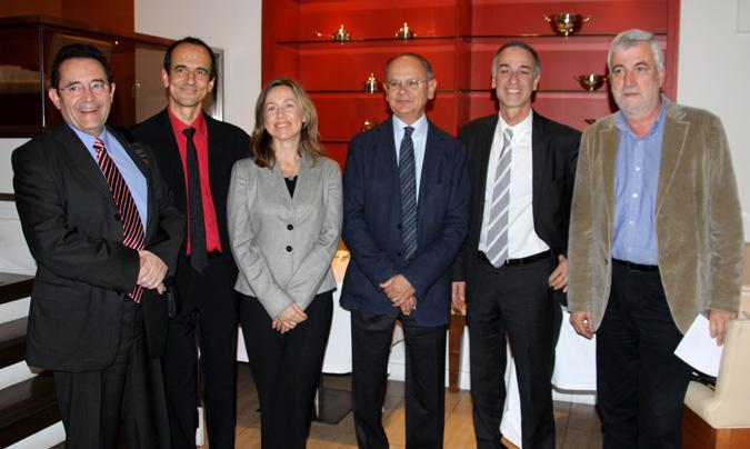 <b>Gonzalo Sanz</b> (Fira Barcelona), <b>Pep Palau</b> (Fòrum Gastronòmic), <b>Isabel Piñol</b> (Hostelco), <b>Jordi Roure</b> (Felac), <b>Jaume Von Arend</b> (Fòrum Gastronòmic) y<b> Josep M. Matamala</b> (Fòrum Gastronòmic).