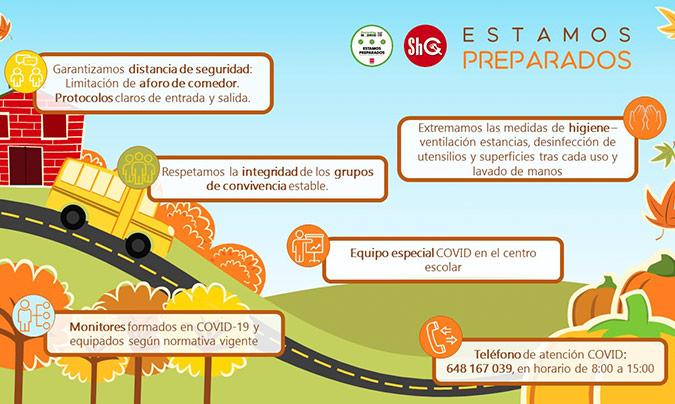 ShC afronta la vuelta al colegio con nuevos procedimientos de seguridad contra la <i>Covid-19</i>