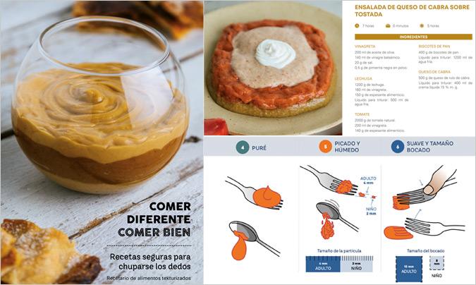 'Comer diferente, comer bien', un recetario para colectividades sobre alimentación texturizada