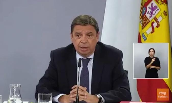 Luis Planas, ministro de Agricultura, Pesca y Alimentación.