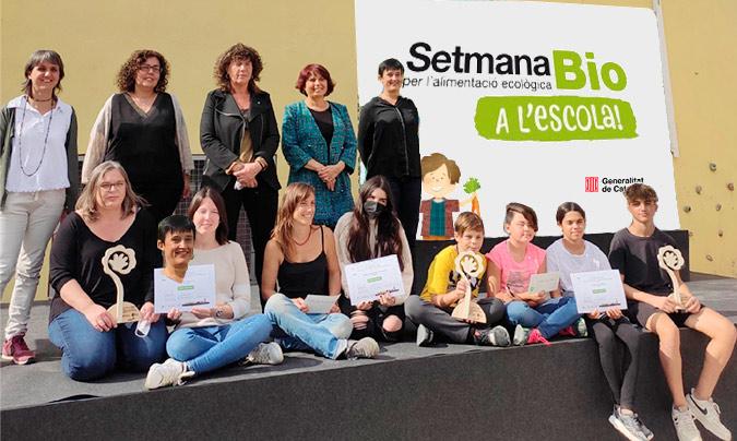 Ganadores de la novena edición del premio Escola, agricultura i alimentació ecològica'