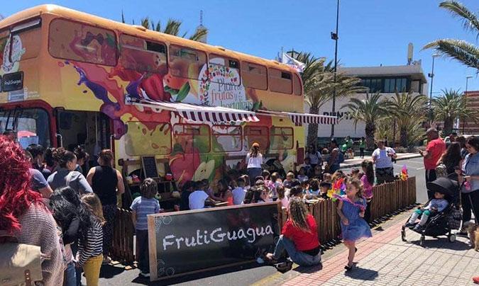 La 'Frutiguagua' forma parte del proyecto ganador del premio 'Estrategia Naos' en la categoría de 'Alimentación saludable en el ámbito escolar'.