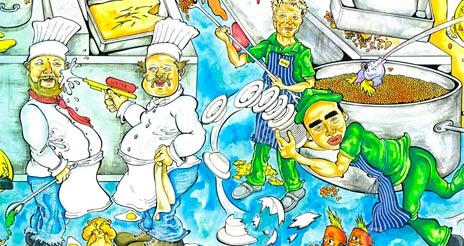 El principio de la 'marcha adelante', la secuencia lógica del trabajo en una cocina profesional
