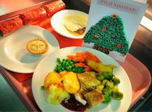 El Hospital de Elda ofrece menús especiales a los pacientes ingresados en Navidad