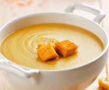 Para personas mayores: 'Crema de lentejas con crema de queso La Vaca que ríe Fórmula Plus'
