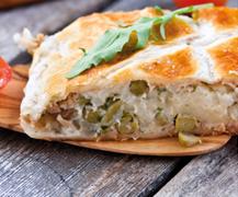 Propuesta para la cena: 'Empanada de atún con loncha de queso La Vaca que ríe Tranchettes'