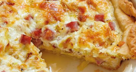 Quiche de jamón york con queso, nutritiva y con un sabor y textura que encanta a los pequeños