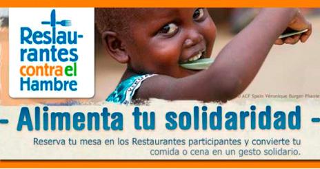 Restaurantes contra el hambre ha reunido a más de 800 restaurantes solidarios