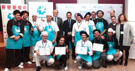 La Fuenfría gana el concurso 'Estrella Princesa' de cocina hospitalaria navideña