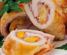 'Pechuga de pollo rellena con jamón y loncha de queso cheddar', una delicia para los 'peques'