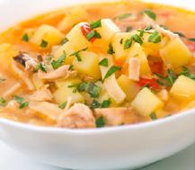 Sopa minestrone con crema de queso; una receta 'plus' para el menú de las residencias