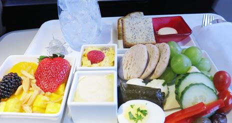 Virgin America y Delta Airlines, las compañías norteamericanas con menús más saludables