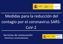 Recomendaciones para evitar contagios por el coronavirus SARS-CoV-2, en restauración